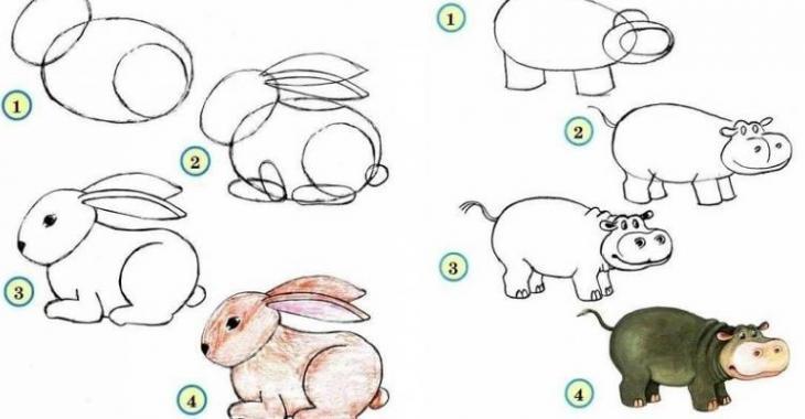 autant pour les grands que pour les enfants votre enfant vous demande de lui dessiner un lapin hiiiii par quoi commencer ces petits tutoriels photo - Dessin D Animaux