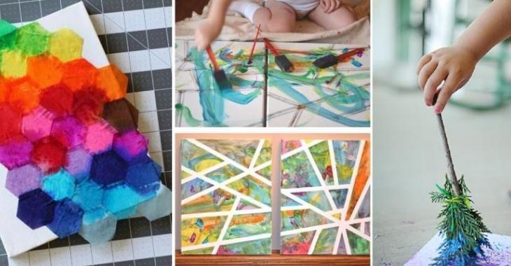 Top 7 Magnifiques activités de peinture et collage à faire avec les  CF53