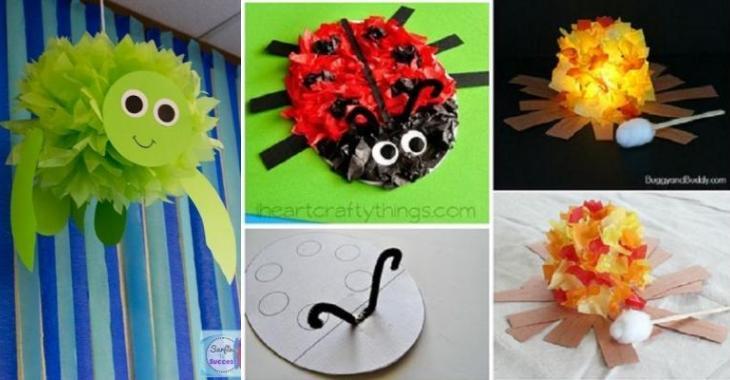 Très 15 Bricolages pour enfants à faire avec du papier de soie! - Brico  YJ42