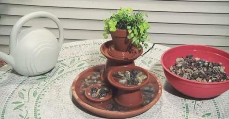 Comment Fabriquer Une Fontaine En Pots De Terre Cuite! Terracotta