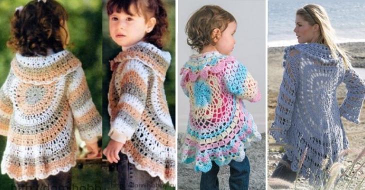 Des patrons gratuits pour faire cette jolie veste au crochet! Enfant et adulte!