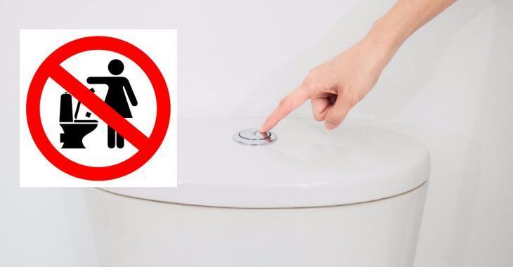 Nous ne devrions jamais jeter ces choses dans la toilette, c'est une question de gros bon sens!
