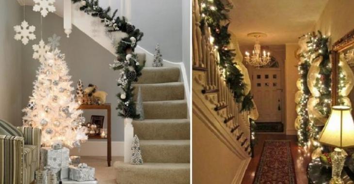 Connu Décorer l'escalier et le vestibule pour Noël! 35 merveilleuses  VA58