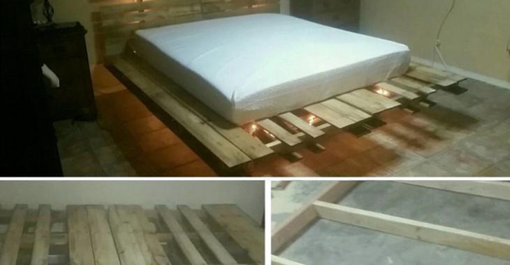 Besoin d'un lit mais vous n'avez pas de budget? Voici 14 façons de fabriquer une base de lit avec des palettes de bois!