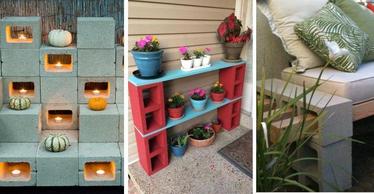 14 idées géniales pour décorer le jardin avec des blocs de béton!
