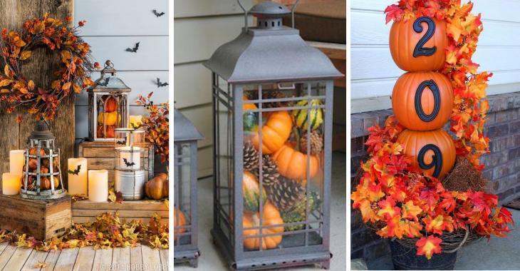10 décorations d'automne faciles et peu coûteuses à bricoler, pour décorer le porche de votre maison!