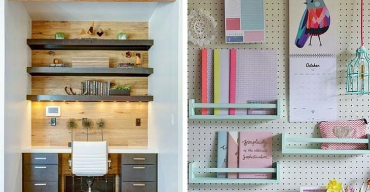 Peu d'espace de rangement dans le bureau? Après avoir vu ces photos, vous allez courir chez Ikea!