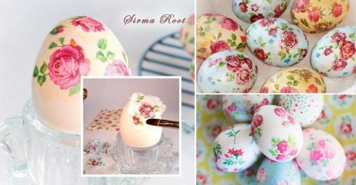 Décorer la maison avec des oeufs de Pâques fleuris!