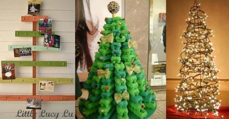 Des tonnes d\'idées pour fabriquer un sapin de Noël beau et original ...