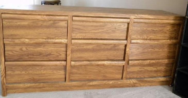 la transformation dun meuble 9 tiroirs en bureau de travail