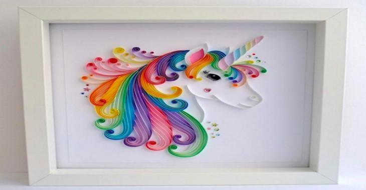 Avec des papiers roulés, vous pourrez faire cette magnifique licorne et 10 autres magnifiques idées!