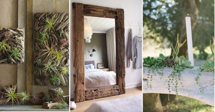 12 idées de décorations pour la maison à faire avec du bois flotté