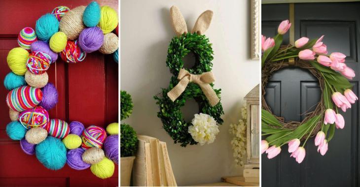 18 jolis modèles de couronnes pour décorer votre maison pour Pâques