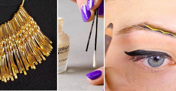 8 utilisations des épingles à cheveux auxquelles vous n'auriez jamais pensées!