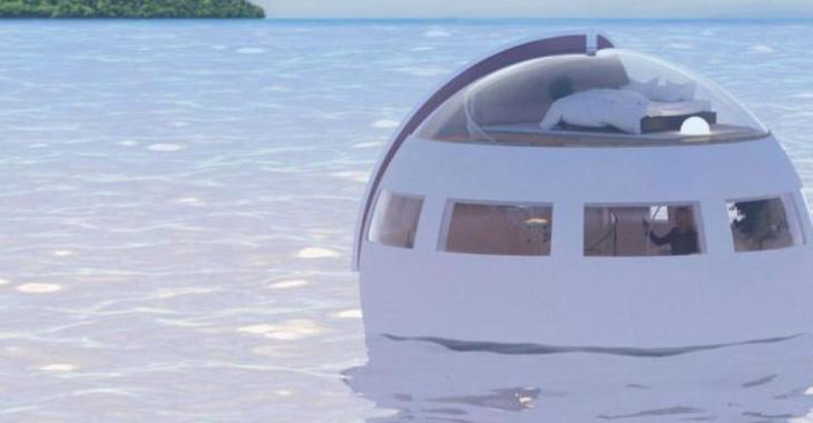 Cette capsule vous permet de dormir pendant que vous flottez vers une île privée paradisiaque