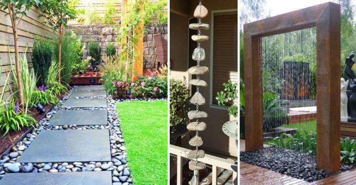 10 merveilleuses idées pour décorer votre jardin avec des pierres de rivière
