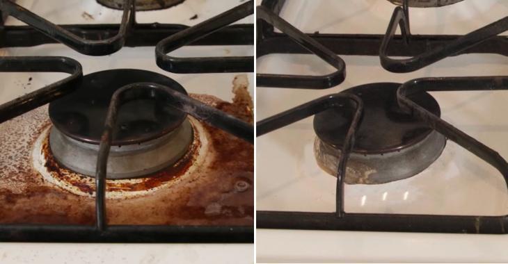 Lavez un débordement de cuisson en un rien de temps et sans produit chimique