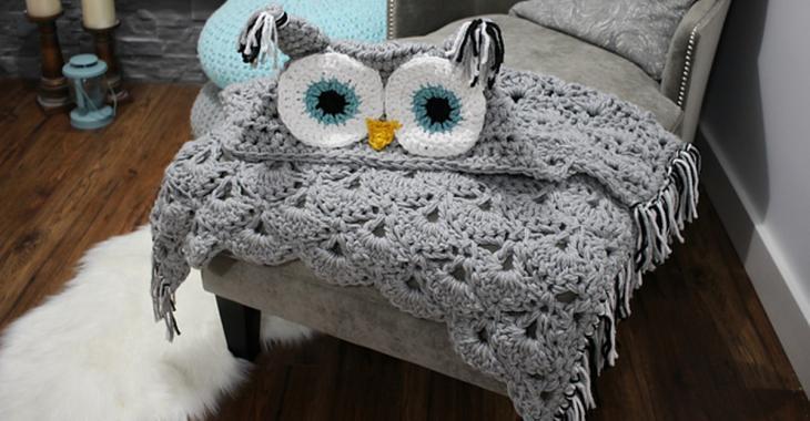 Apprenez à faire cette superbe couverture hibou, elle est parfaite pour vous garder au chaud tout au long de l'année