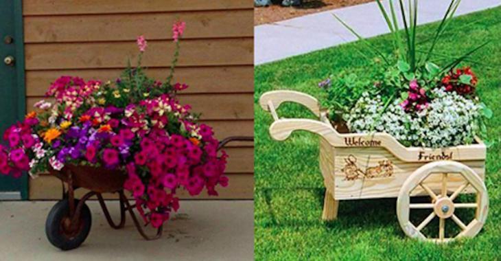 14 idées de brouettes ornementales pour décorer votre jardin