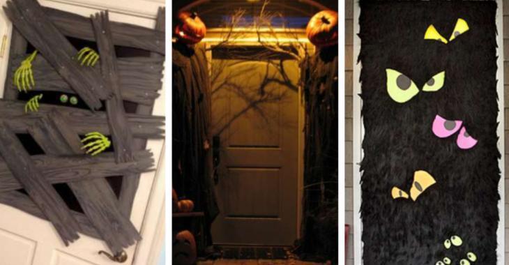 13 idées déco d'Halloween pour les portes d'entrée