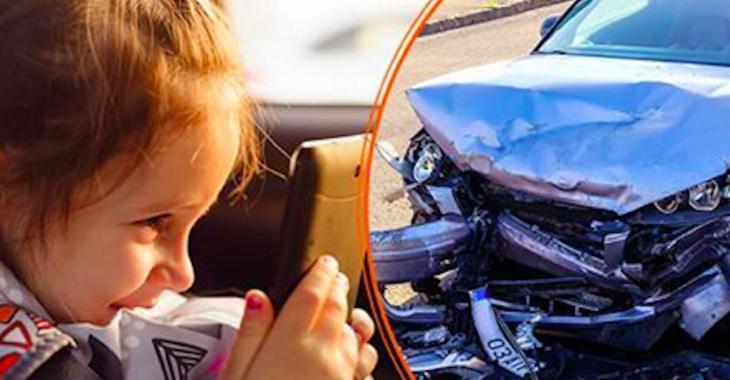 Une mère a prêté sa tablette à sa fillette pendant une balade en voiture et elle l'a regretté amèrement.