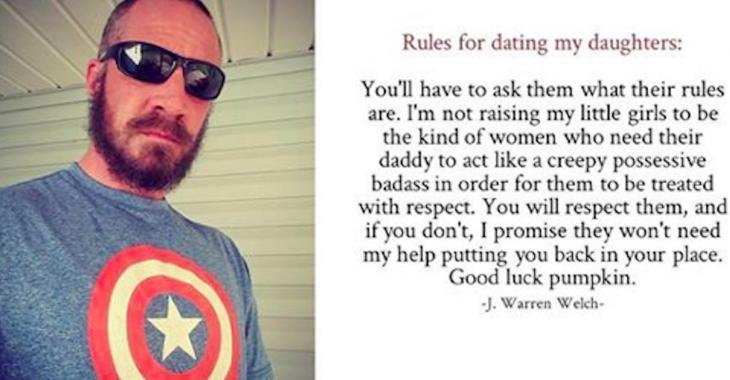 Ce père explique les règles à suivre pour fréquenter ses filles