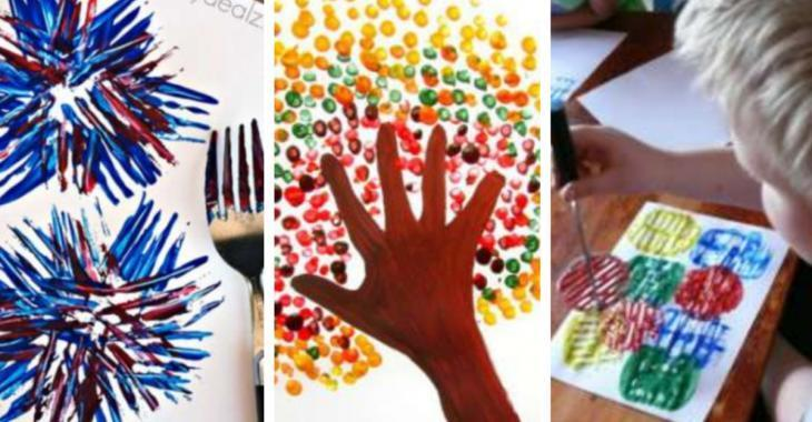 12 techniques de peinture à essayer avec les enfants