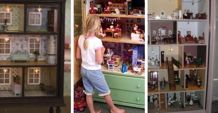 Transformer une vieille commode en maison de poupée