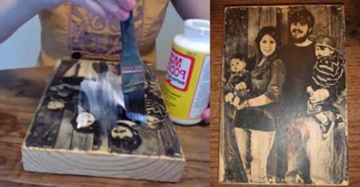 Comment transférer une photo sur du bois