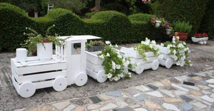 Apprenez à fabriquer une jardinière locomotive à partir de caissettes de bois