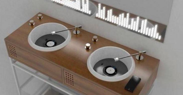 Des éviers de salle de bain pour les mordus de musique