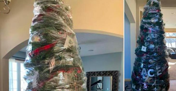 Une femme trouve une astuce pour éviter de défaire son sapin de Noël