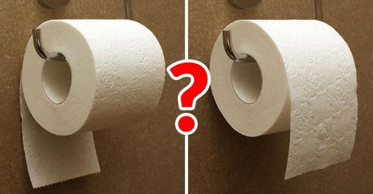 Faut-il placer le rouleau de papier de toilette feuilles par-dessus ou sur le dessous? La réponse date de 128 ans!