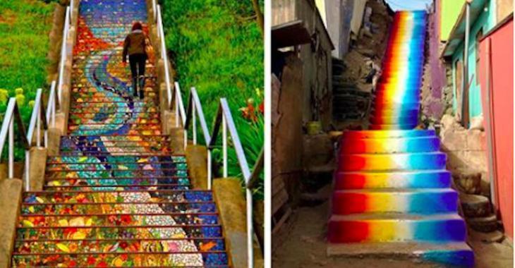19 sublimes escaliers qui ont été transformés par des artistes dans le monde entier
