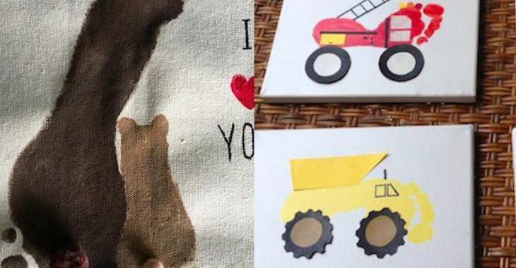 25  idées de bricolages à réaliser avec des empreintes