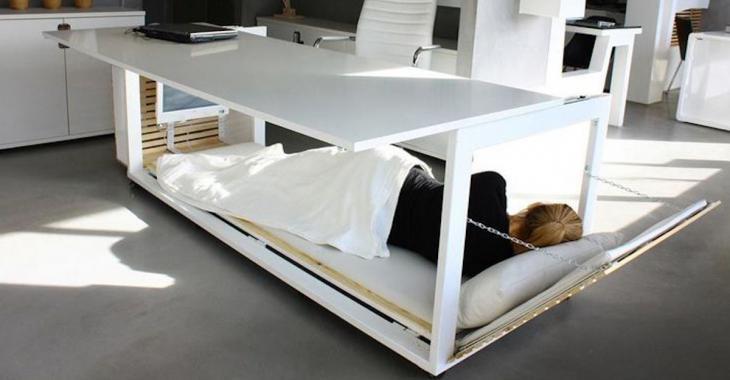 Une designer a inventé le bureau pour sieste