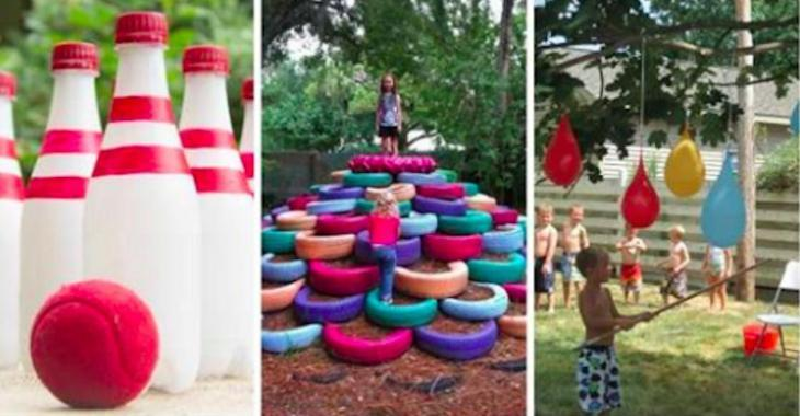 8 jeux extérieurs qui occuperont vos enfants pendant l'été!