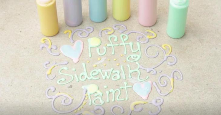 Comment faire de la peinture gonflée pour trottoir