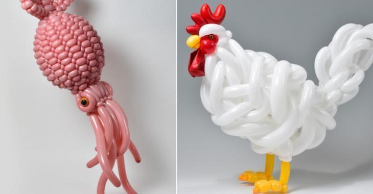 Il crée des sculptures de ballons totalement extraordinaires!