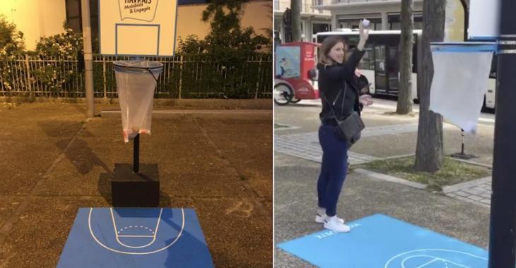 Une ville française transforme ses poubelles en paniers de basket!