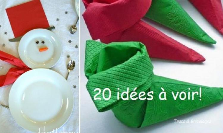 20 idées pour décorer votre table de Noël!