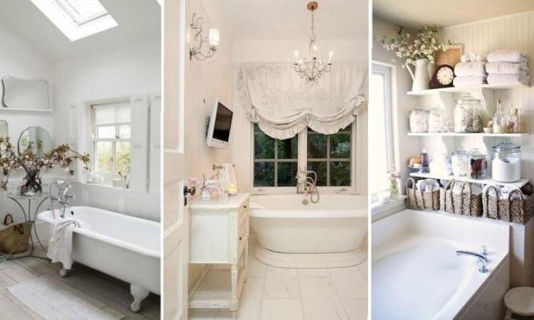18 magnifiques ides pour rendre une salle de bain un peu plus shabby chic - Idee Salle De Bain