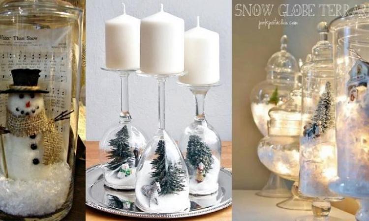 20 décorations de Noël à faire avec des accessoires de verre! C\u0027est CHIC