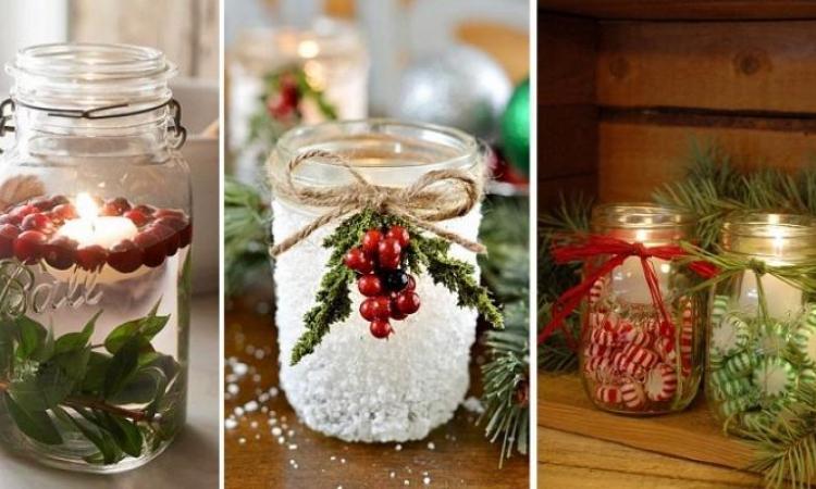 10 Bricolages d'hiver à faire avec des pots Mason!