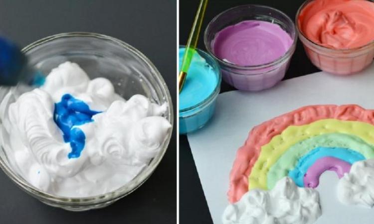 Peinture 3D! Une recette + 15 idées de peinture à faire avec les enfants!