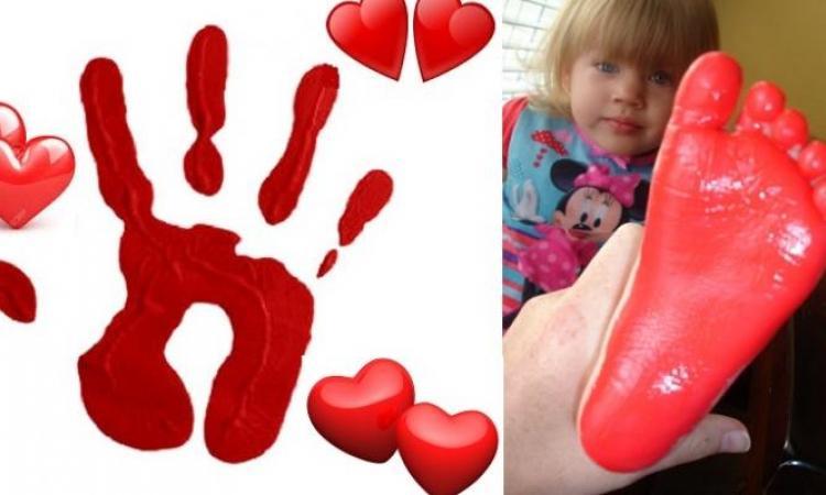 Peindre avec les mains et les pieds pour la Saint-Valentin! 8 modèles à voir!