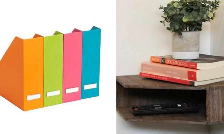 10 façons créatives d'utiliser les porte-revues dans toutes les pièces de la maison, pour être bien organisé!