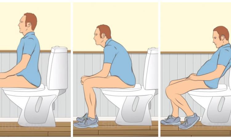 Si vous vous assoyez comme ça à la toilette, vous vous y prenez mal! Voici pourquoi!