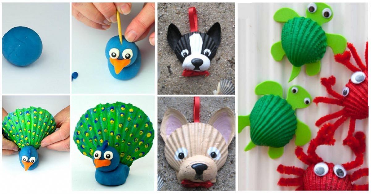 12 Bricolages Pour Les Enfants À Faire Avec Des Coquillages
