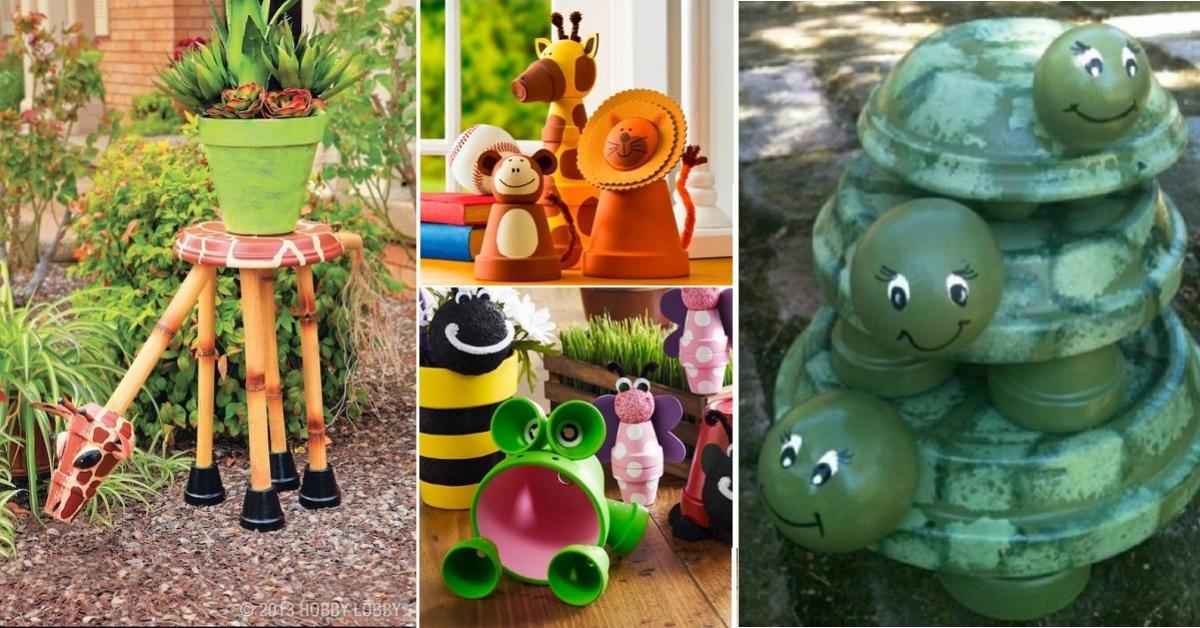 22 modèles d\'animaux à bricoler en pot de terre cuite, pour décorer ...